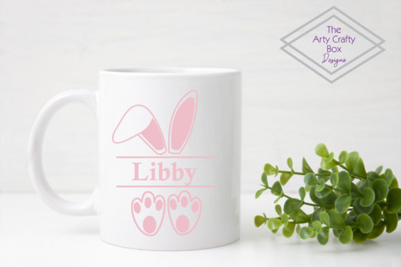 Bunny Ears and Feet Graphic Product Mockups By The Arty Crafty Box Designs