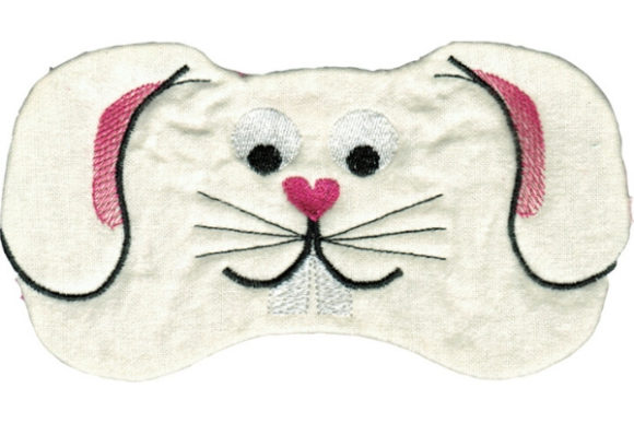 Bunny Eye Mask Wild Animals Embroidery Design By Sue O'Very Designs