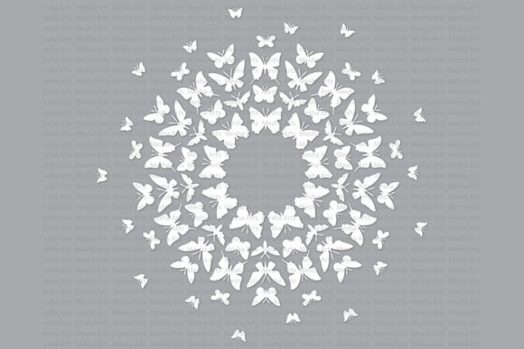 Download Free Butterfly Silhouette Graphic By Meshaarts Creative Fabrica for Cricut Explore, Silhouette and other cutting machines.