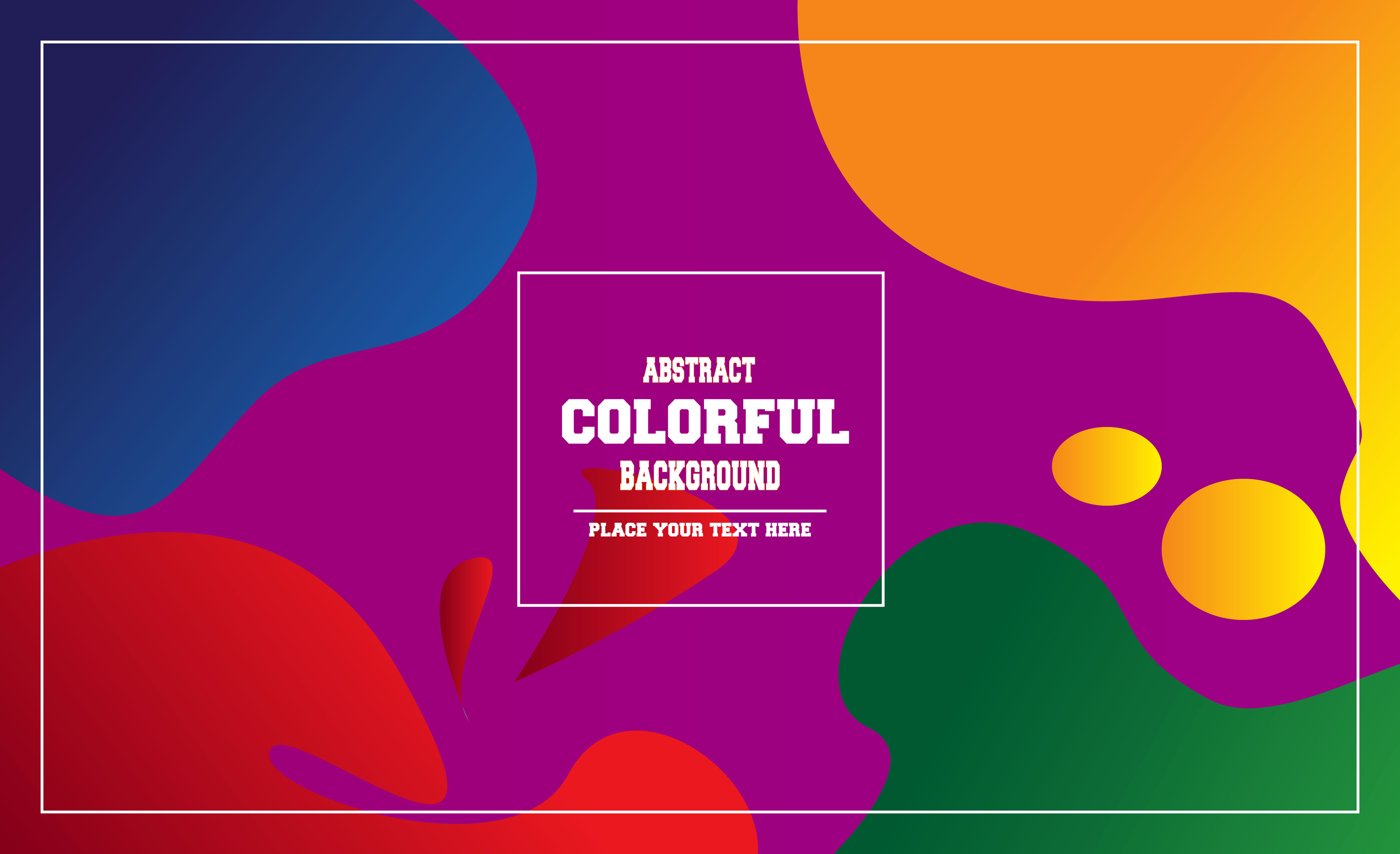 Download Free Colorful Abstract Background Graphic By Mahesa Design Creative for Cricut Explore, Silhouette and other cutting machines.