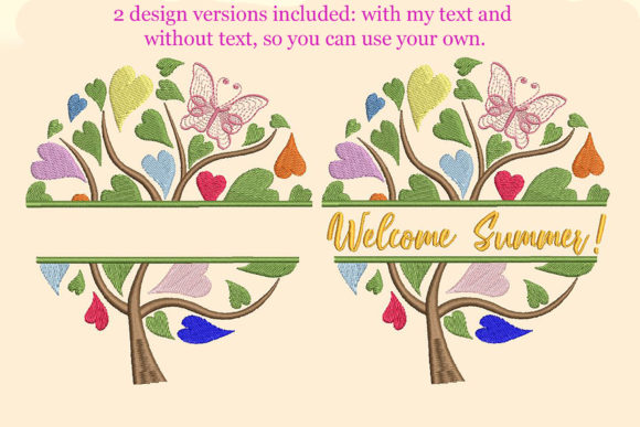 Print on Demand: Colorful Tree with Heart Shaped Leaves Forest & Trees Embroidery Design By Embroidery Shelter - Image 3