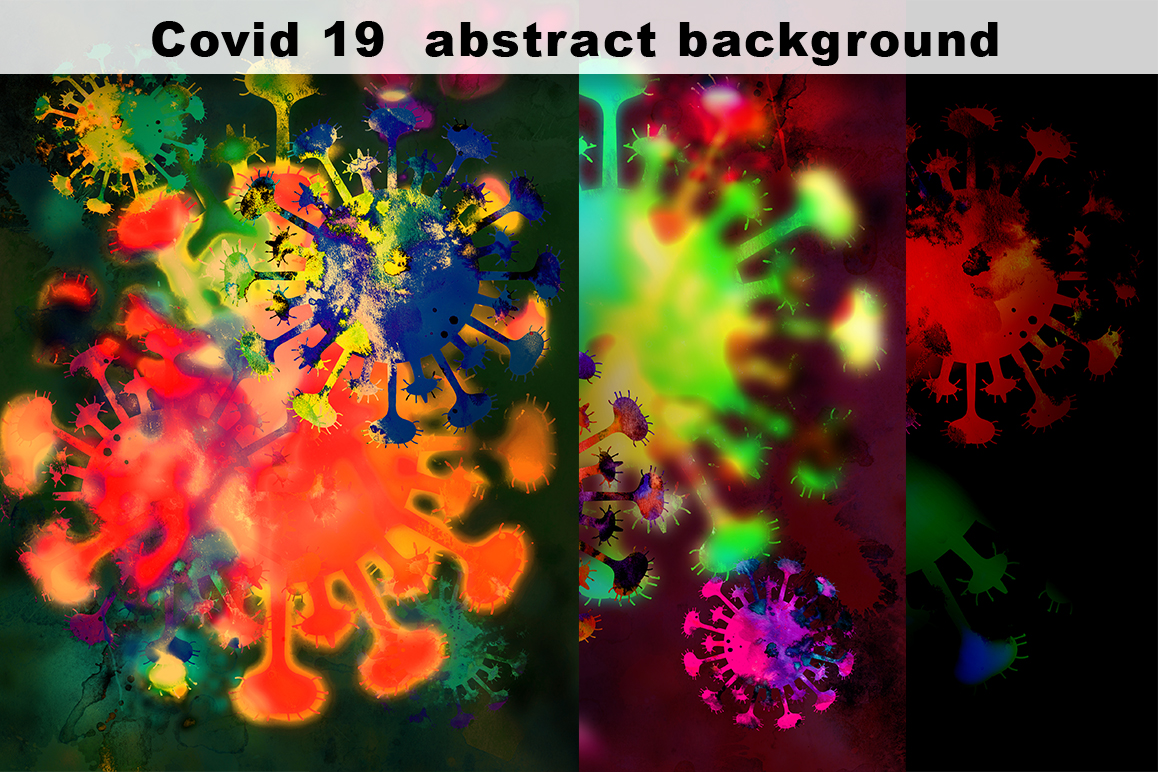 Download Free Covid 19 Abstract Background Wallpaper Graphic By Vector City for Cricut Explore, Silhouette and other cutting machines.