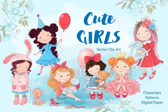 Print on Demand: Cute Girls Graphic Illustrations By nicjulia