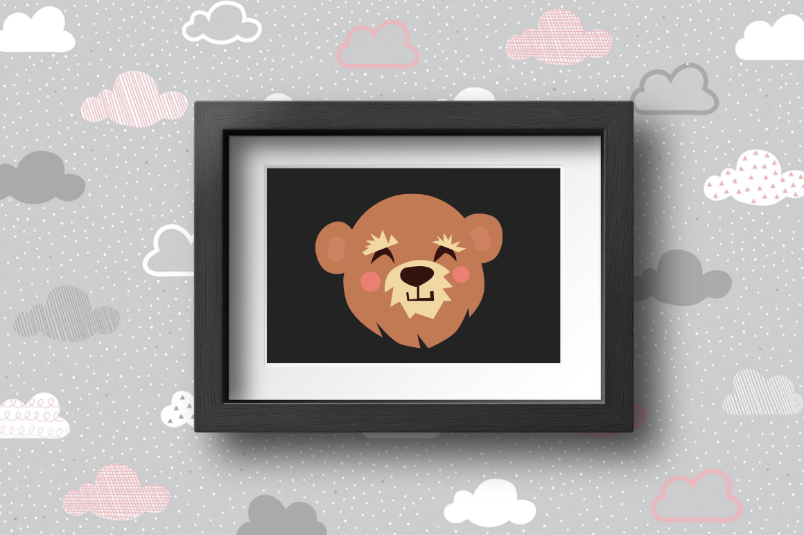Download Free Cute Animals Character Svg Bear Graphic By Duka Creative Fabrica for Cricut Explore, Silhouette and other cutting machines.