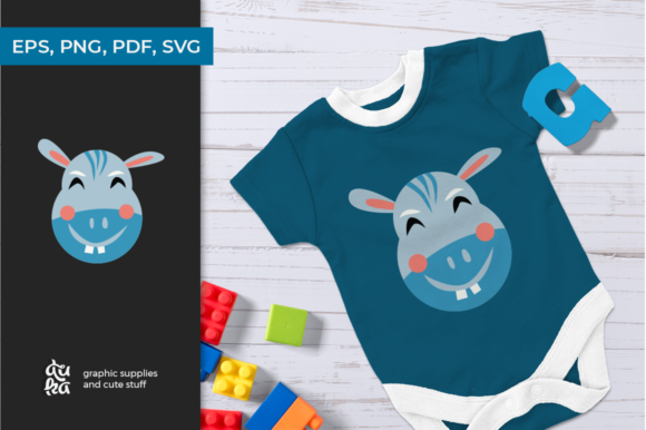 Download Free Cute Animals Character Svg Hippo Graphic By Duka Creative Fabrica for Cricut Explore, Silhouette and other cutting machines.