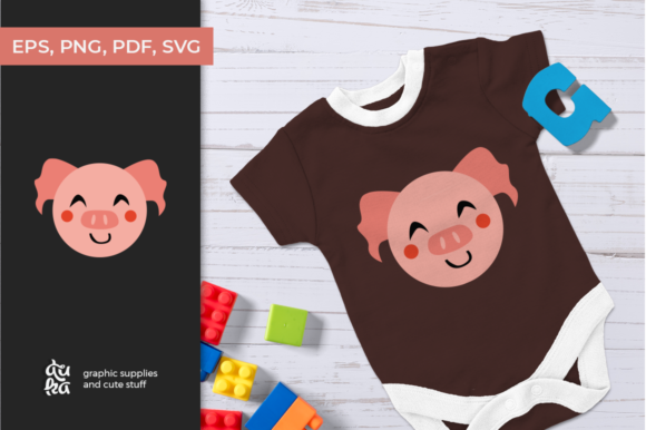 Download Free Cute Animals Character Svg Pig Graphic By Duka Creative Fabrica for Cricut Explore, Silhouette and other cutting machines.