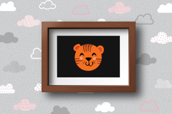 Print on Demand: Cute Animals Character - Tiger Graphic Illustrations By duka