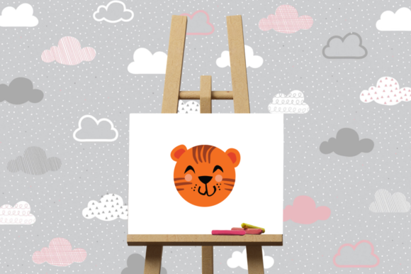 Download Free Cute Animals Character Svg Tiger Graphic By Duka Creative for Cricut Explore, Silhouette and other cutting machines.