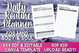 Print on Demand: Daily Routine Planner   KDP Interior Graphic KDP Interiors By InteriorTastic