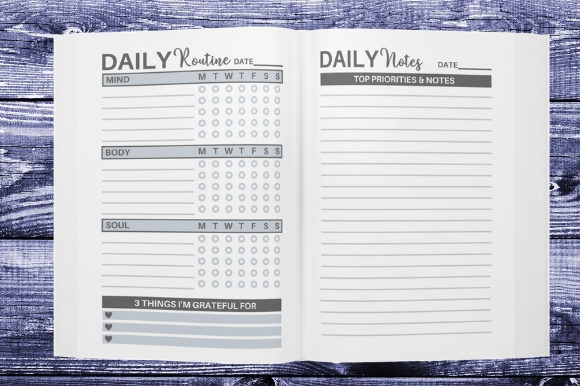 Download Free Daily Routine Planner Kdp Interior Graphic By Interiortastic SVG Cut Files