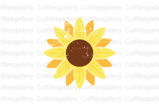 Download Free Distressed Sunflower Sunflower Graphic By Cutfilesgallery for Cricut Explore, Silhouette and other cutting machines.