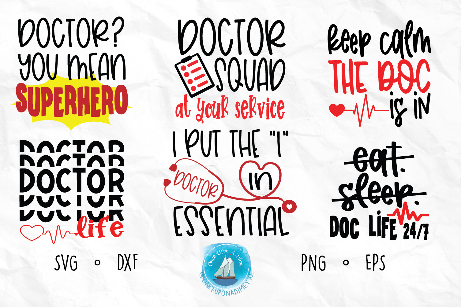 Download Free Doctor Bundle Graphic By Onceuponadimeyxe Creative Fabrica for Cricut Explore, Silhouette and other cutting machines.