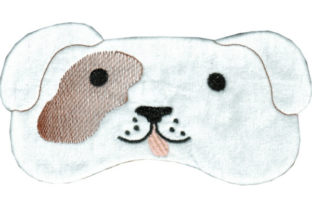Doggy Eye Mask Dogs Embroidery Design By Sookie Sews