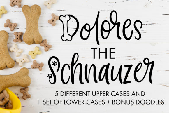 Download Free Dolores The Schnauzer Font By Freelingdesignhouse Creative Fabrica for Cricut Explore, Silhouette and other cutting machines.