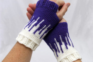Drip Drop Women's Fingerless Mitts Graphic Crochet Patterns By Knit and Crochet Ever After