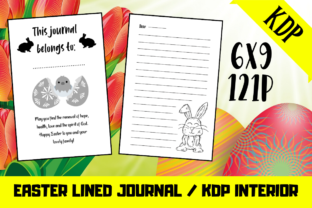 Print on Demand: Easter Lined Journal | KDP Journal Graphic KDP Interiors By KDP Mastermind