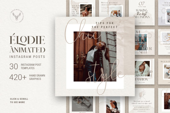 Print on Demand: Elodie - Animated Instagram Posts Graphic Websites By SilverStag