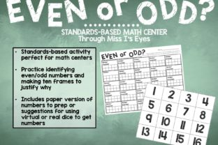 Even or Odd Math Activity Graphic 2nd grade By hi miss i