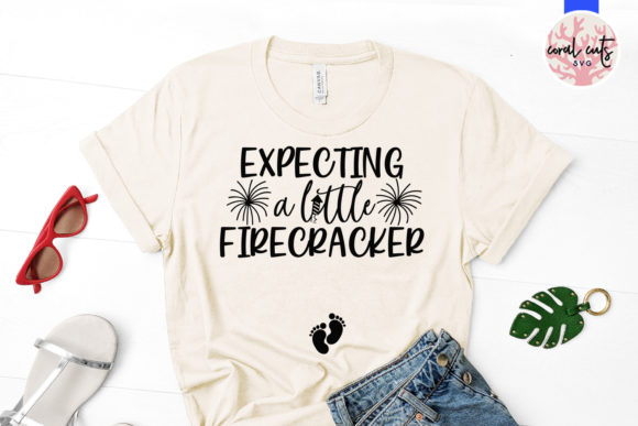 Download Free Expecting A Little Firecracker Svg File Graphic By Coralcutssvg for Cricut Explore, Silhouette and other cutting machines.