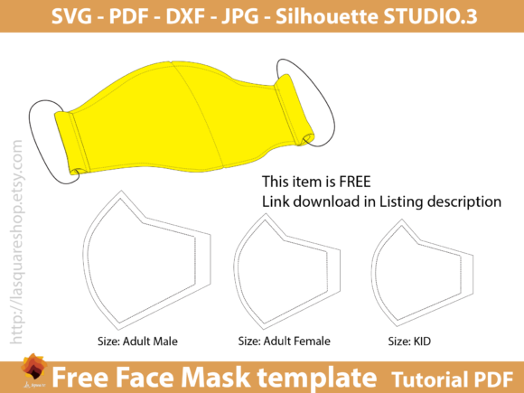 Download Free 3 Face Mask Pdf Designs Graphics for Cricut Explore, Silhouette and other cutting machines.