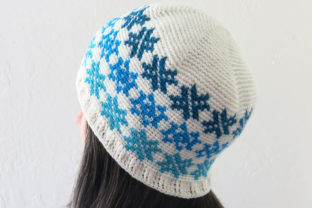 Falling Snowflakes Beanie Pattern Graphic Crochet Patterns By Knit and Crochet Ever After