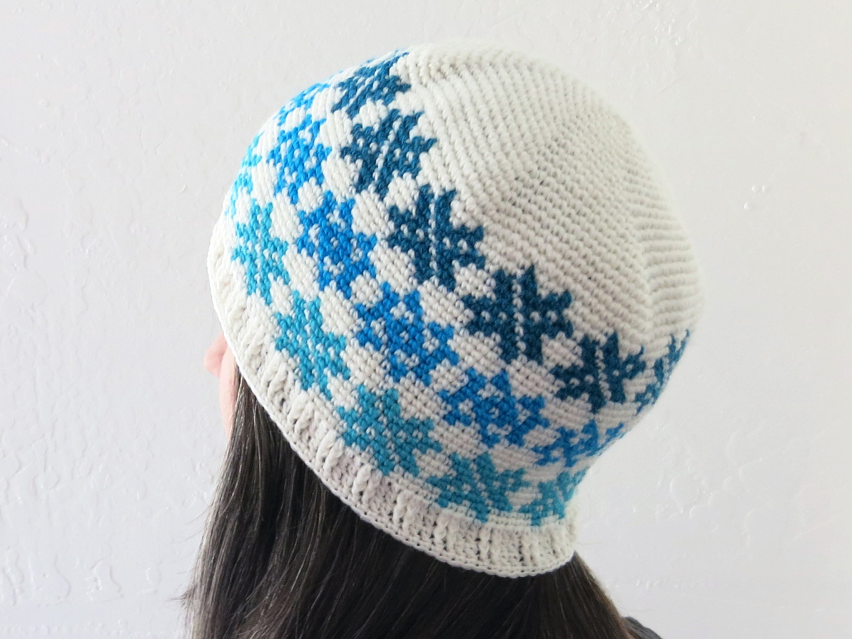 Falling Snowflakes Beanie Pattern Graphic By Knit And Crochet