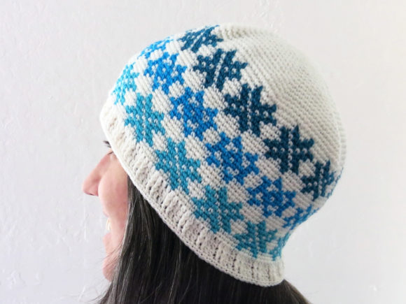 Falling Snowflakes Beanie Pattern Graphic Crochet Patterns By Knit and Crochet Ever After - Image 2