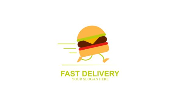 Fast Delivery Logo Design Food Service Graphic By Deemka Studio