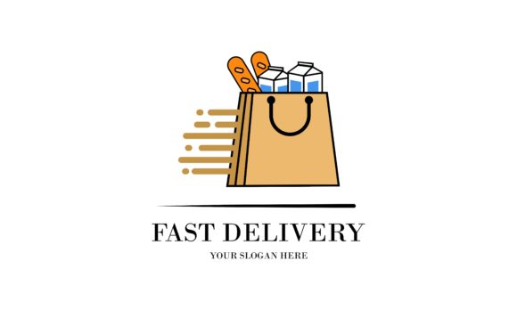 Fast Delivery Logo Design Food Service Graphic By 2qnah