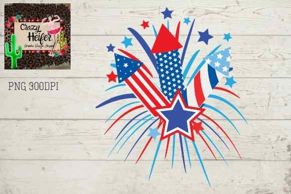 Download Free Fireworks Clipart July 4th Dye Graphic By Crazy Heifer Design for Cricut Explore, Silhouette and other cutting machines.