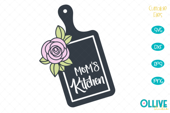Download Free Floral Mom S Kitchen Svg Graphic By Ollivestudio Creative Fabrica for Cricut Explore, Silhouette and other cutting machines.