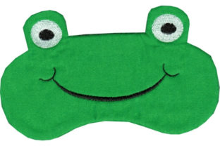 Froggy Eye Mask Reptiles Embroidery Design By Sookie Sews