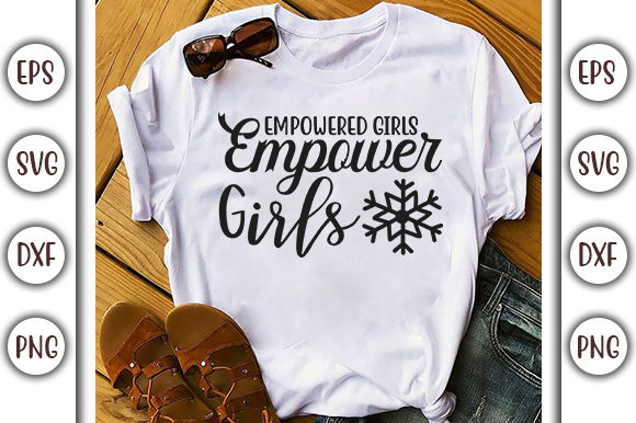 Download Free Girl Power Design Empowered Girls Graphic By Graphicsbooth for Cricut Explore, Silhouette and other cutting machines.