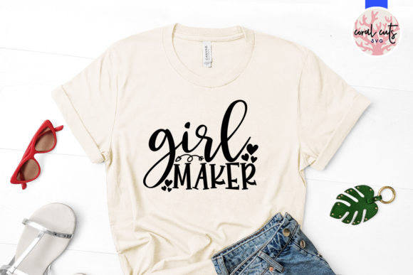 Download Free Girl Maker Svg Cut File Graphic By Coralcutssvg Creative Fabrica SVG Cut Files