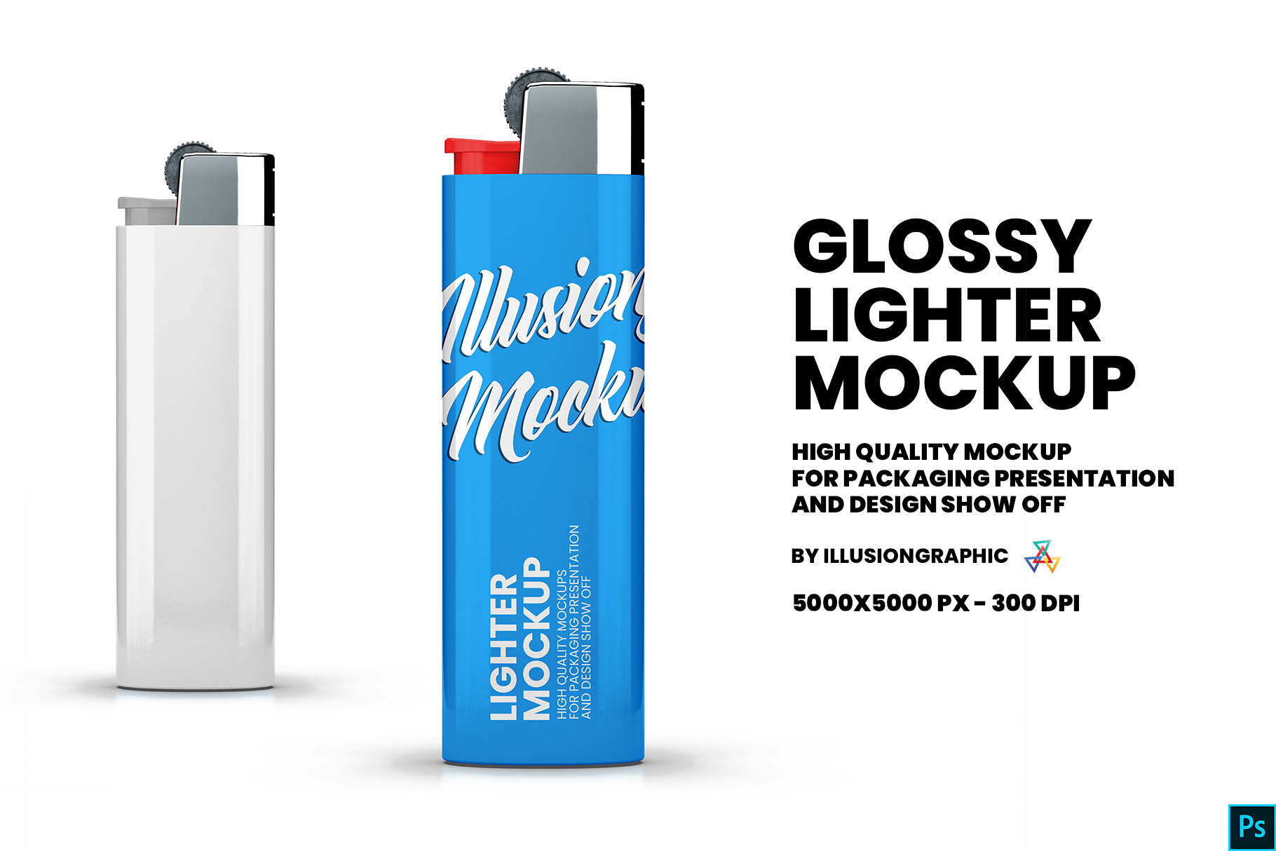 Download Free Glossy Lighter Mockup Graphic By Illusiongraphicdesign for Cricut Explore, Silhouette and other cutting machines.