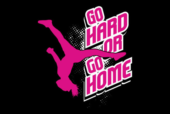 Download Free Go Hard Or Go Home Cheer Silhouette Graphic By Ninerush Creative Fabrica for Cricut Explore, Silhouette and other cutting machines.