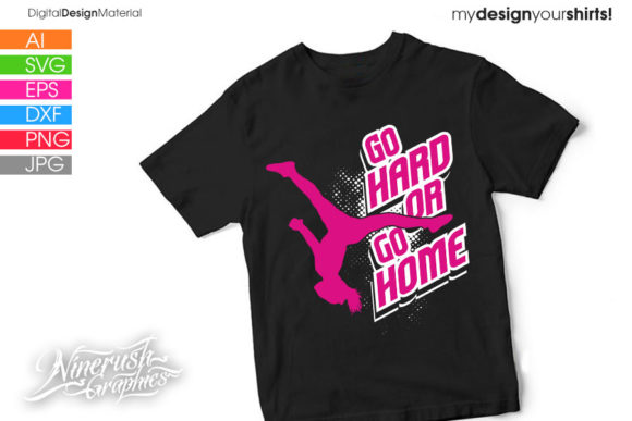 Download Free Go Hard Or Go Home Cheer Silhouette Graphic By Ninerush for Cricut Explore, Silhouette and other cutting machines.