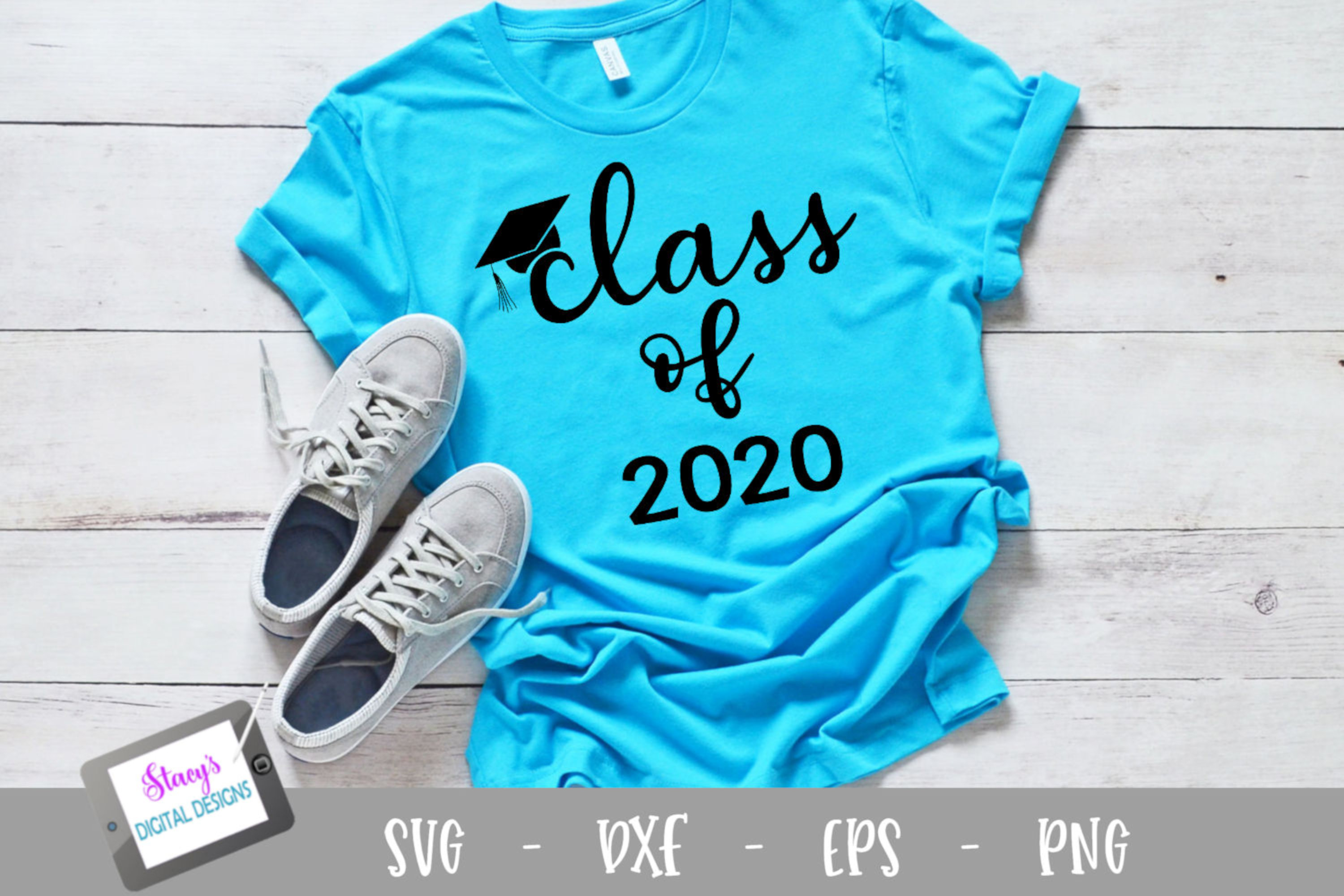 Download Free Graduation Class Of 2020 Graphic By Stacysdigitaldesigns for Cricut Explore, Silhouette and other cutting machines.