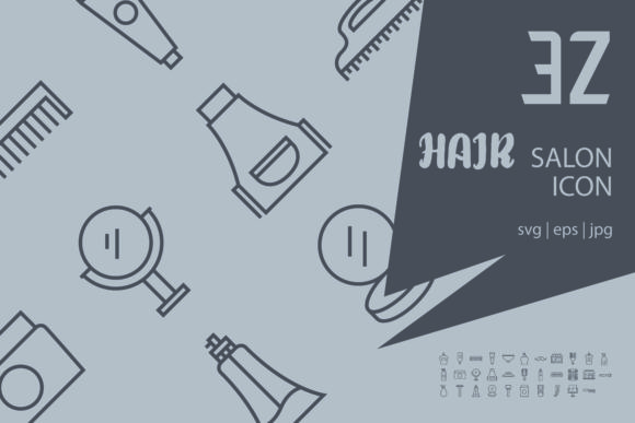 Download Free Hair Salon Graphic By Astuti Julia92 Creative Fabrica for Cricut Explore, Silhouette and other cutting machines.