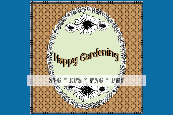 Download Free Happy Gardening Card Coloring Elements Graphic By Graphicsfarm for Cricut Explore, Silhouette and other cutting machines.