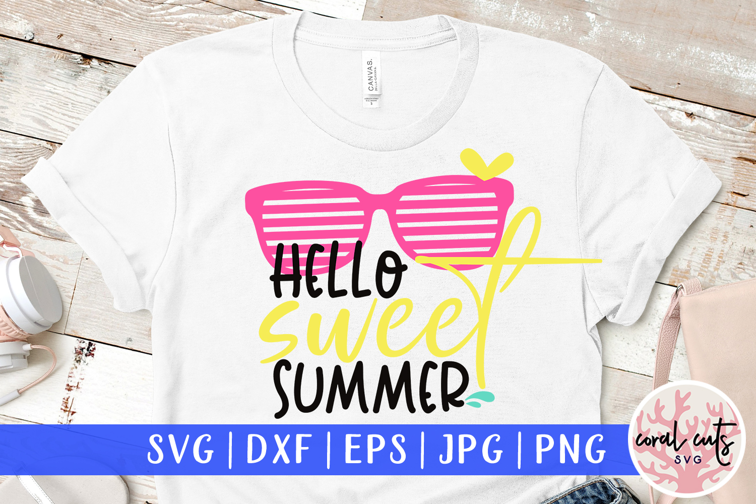 Download Free Hello Sweet Summer Svg Cut File Graphic By Coralcutssvg for Cricut Explore, Silhouette and other cutting machines.