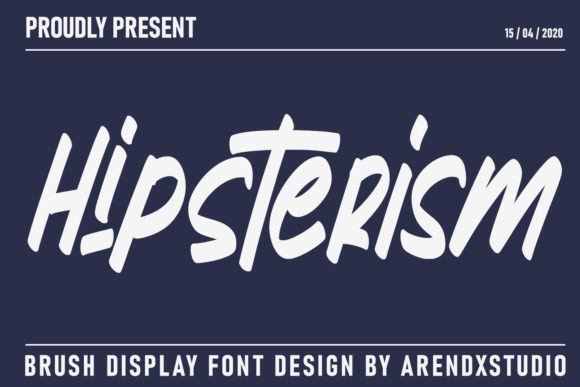 Print on Demand: Hipsterism Display Font By Arendxstudio