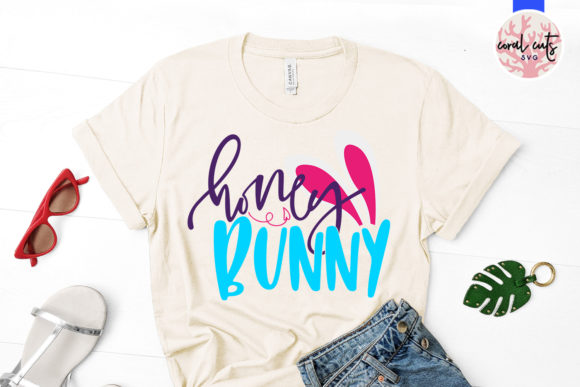 Download Free Honey Bunny Svg Cut File Graphic By Coralcutssvg Creative Fabrica for Cricut Explore, Silhouette and other cutting machines.