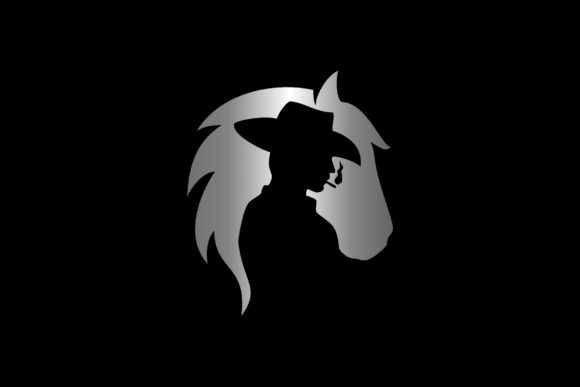 Download Free Horse And Man Graphic By Herulogo Creative Fabrica for Cricut Explore, Silhouette and other cutting machines.