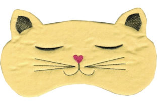 Kitty Eye Mask Cats Embroidery Design By Sookie Sews