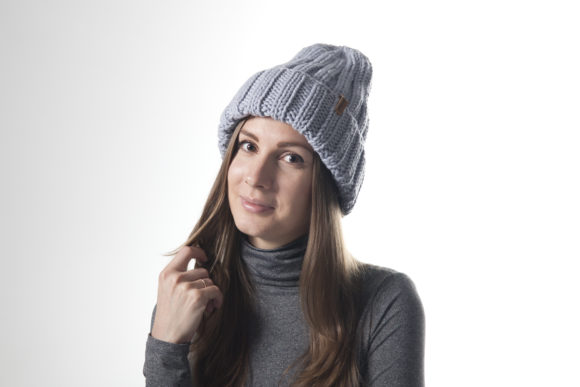 Knit 2x2 Ribbed Beanie Pattern Graphic Knitting Patterns By onehatstore - Image 1