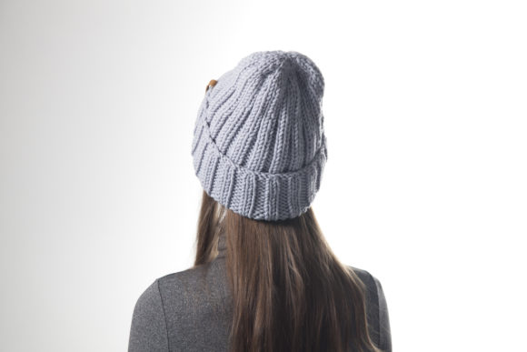 Knit 2x2 Ribbed Beanie Pattern Graphic Knitting Patterns By onehatstore - Image 3