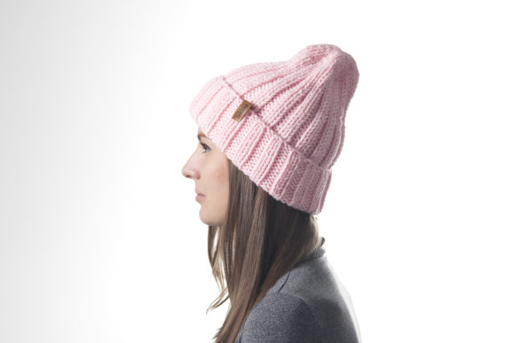 Knit 2x2 Ribbed Beanie Pattern Graphic Knitting Patterns By onehatstore - Image 4