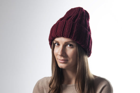 Knit 2x2 Ribbed Beanie Pattern Graphic Knitting Patterns By onehatstore - Image 5