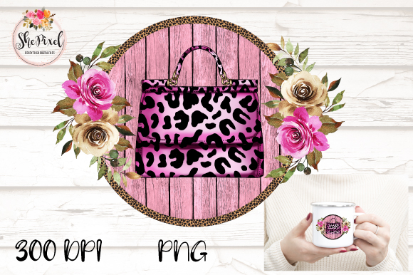 Download Free Leopard Print Pink Purse Clipart Graphic By Shepixel Creative SVG Cut Files